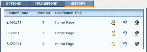 pages history tab